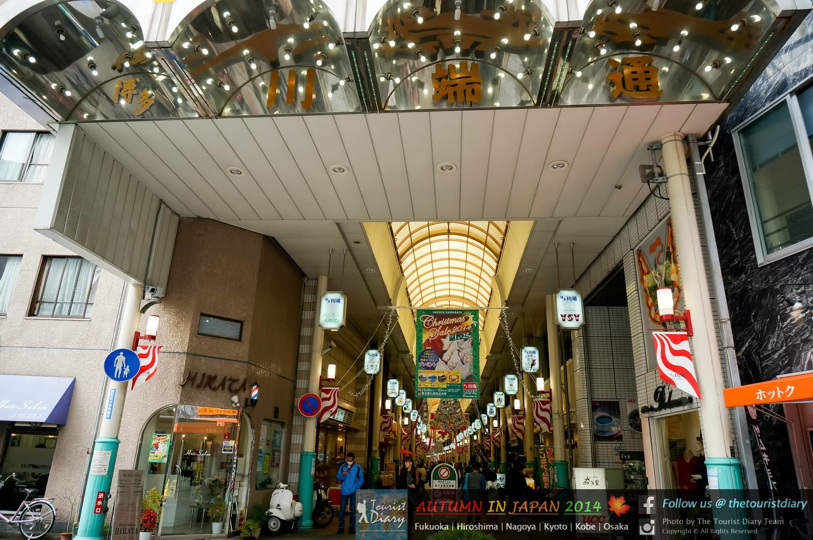 Fukuoka | Nakasu Kawabata ถนนช้อปปิ้ง & Yatai แผงขายอาหารกลางคืน